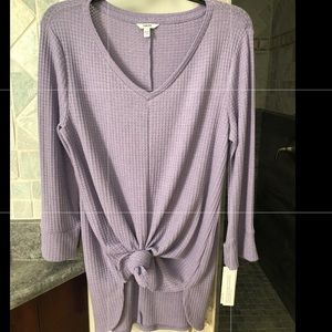 Light purple long-sleeved shirt. New with tags
